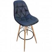 2195R-BoombarAhşap Bar Sandalyesi